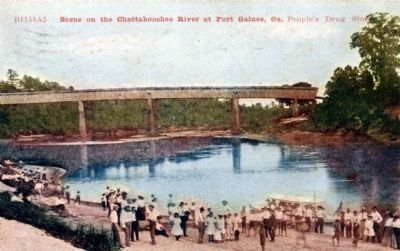 The Old Lattice Bridge over the Chattahoochee River image. Click for full size.