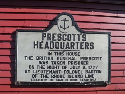 Prescott's Headquarters Marker image. Click for full size.