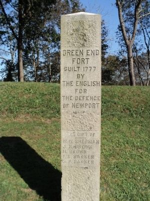 Green End Fort Marker image. Click for full size.