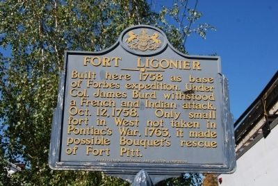 Fort Ligonier Marker image. Click for full size.