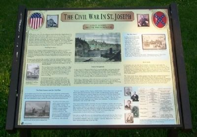 The Civil War in St. Joseph Marker image. Click for full size.