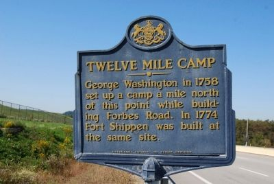 Twelve Mile Camp Marker image. Click for full size.