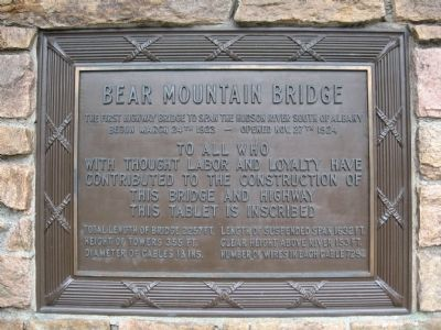 Bear Mountain Bridge Marker image. Click for full size.