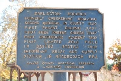 Darlington Borough Marker image. Click for full size.