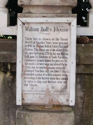 William Bull's House Marker image. Click for full size.