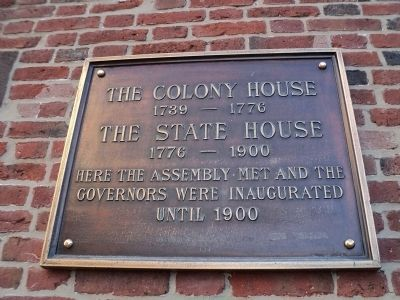 The Colony House / The State House Marker image. Click for full size.