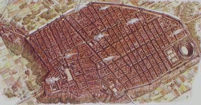 <i>Pompei Giubileo</i> [Pompeii Jubilee] 2000 Marker, close-up of the image. Click for full size.