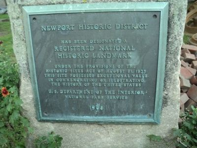 Newport Historic District Marker image. Click for full size.