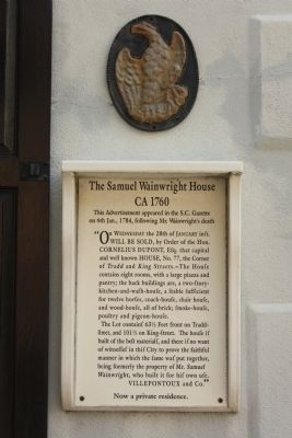 The Samuel Wainwright House Marker image. Click for full size.