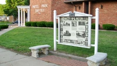 Patee Park Baptist Church and Marker image. Click for full size.