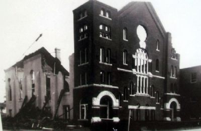 Photo of Patee Park Baptist Church Fire on Marker image. Click for full size.