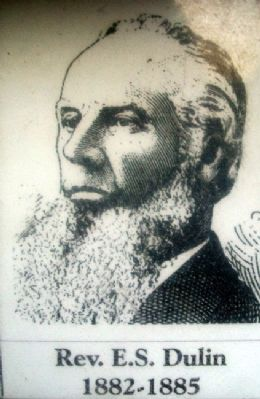Rev E.S. Dulin Photo on Patee Park Baptist Church Marker image. Click for full size.