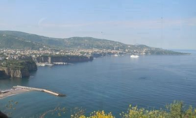 Sorrento on the Bay of Naples - viewed from the road to <i>Pompei image. Click for full size.