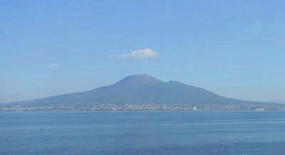 Mount Vesuvius - viewed from the Sorrentine Coast across the Bay of Naples image. Click for full size.