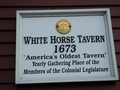 White Horse Tavern Marker image. Click for full size.