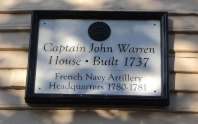 Captain John Warren House Marker image. Click for full size.