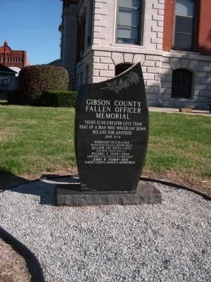 """Gibson County Fallen Officer Memorial""<br> (Also at South Entrance of Courthouse) image. Click for full size."