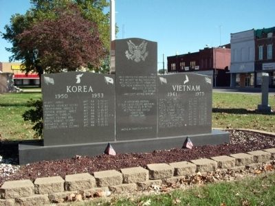 Full View - - Gibson County Korean - Vietnam Honor Rolls Marker image. Click for full size.