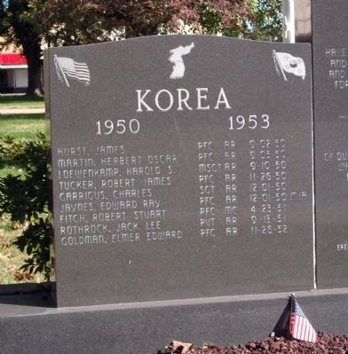 Left Panel - - Gibson County Korean - Vietnam Honor Rolls Marker image. Click for full size.
