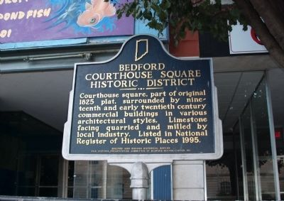 Bedford Courthouse Square Historic District Marker image. Click for full size.