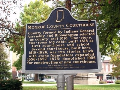 Side 'One' - - Monroe County Courthouse Marker image. Click for full size.