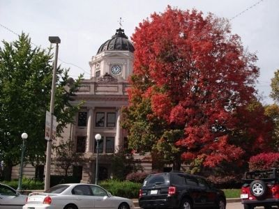 It is The Monroe County Courthouse - - It is Fall - -<br> It is I. U. Football Game Day ! ! image. Click for full size.
