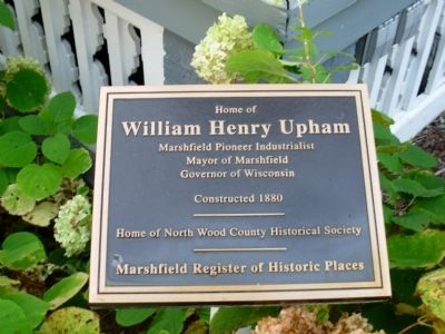 Governor William H. Upham House Marker image. Click for full size.