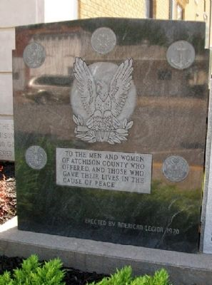 Atchison County War Memorial Detail image. Click for full size.