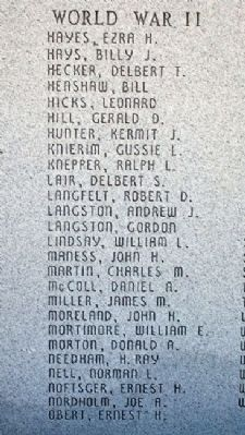 Atchison County War Memorial Honor Roll image. Click for full size.