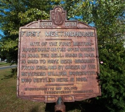 First Meetinghouse Marker image. Click for full size.