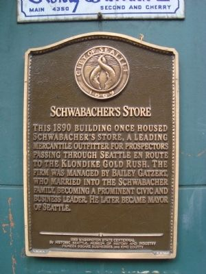 Schwabacher's Store Marker image. Click for full size.