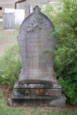 Alexander W. Marshall D.D. Tombstone image. Click for full size.