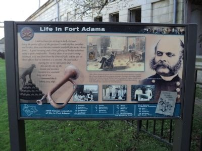 Life in Fort Adams Marker image. Click for full size.