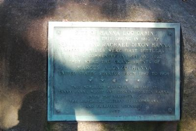 Site of Hanna Log Cabin Marker image. Click for full size.