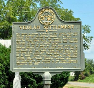 Vilulah Settlement Marker image. Click for full size.