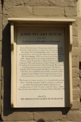 Colonel John Stuart House Marker image. Click for full size.