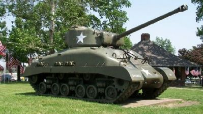 Tank in Legion Memorial Park image. Click for full size.