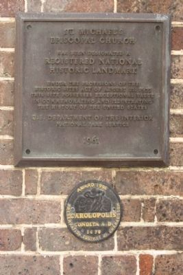 St Michael's Episcopal Church National Historic Landmark Marker and image. Click for full size.