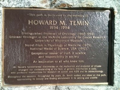 Howard M. Temin Marker image. Click for full size.