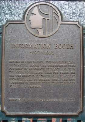 Information Booth Marker image. Click for full size.