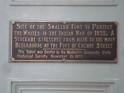 Site of the Smaller Fort Marker image. Click for full size.
