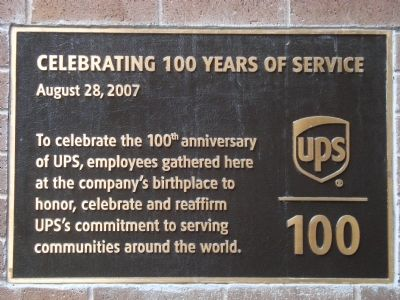 Celebrating 100 years of Service Marker image. Click for full size.