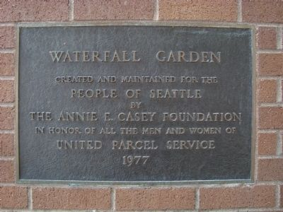 Waterfall Garden Plaque image. Click for full size.