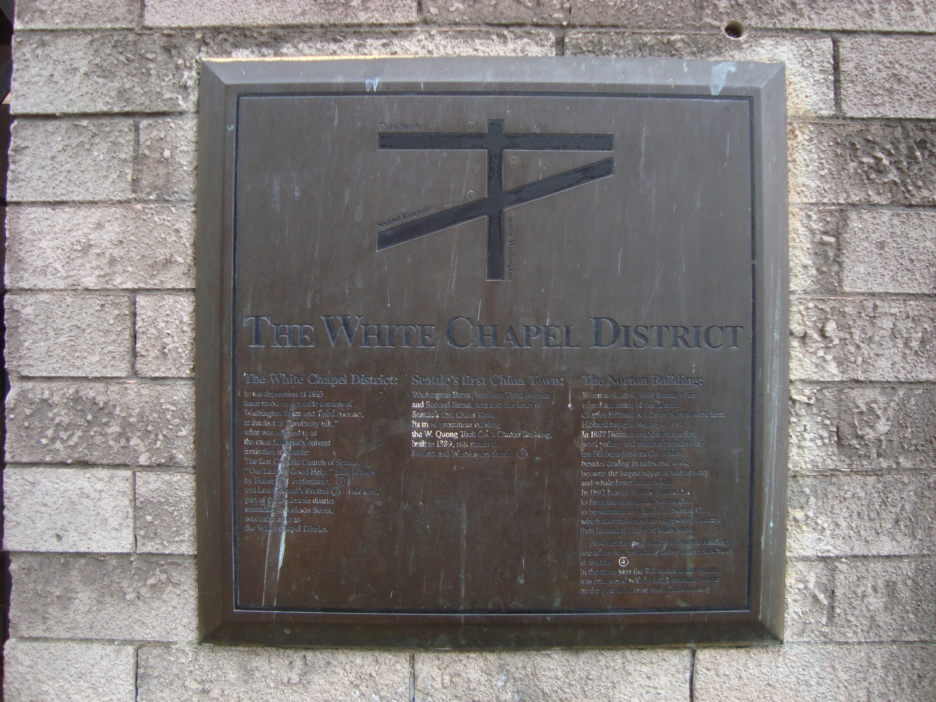 The White Chapel District Marker