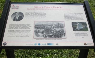 General Thomas Churchill Wayside Exhibit image. Click for full size.