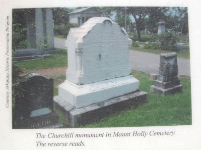 General Churchill's Memorial in Mt. Holly Cemetery, Little Rock, AR image. Click for full size.