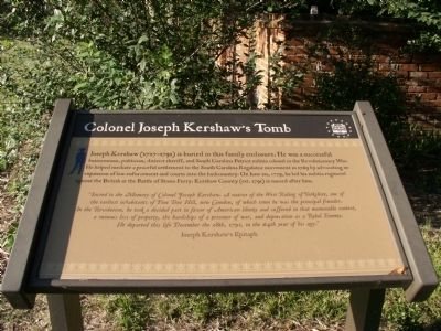 Colonel Joseph Kershaw's Tomb Marker image. Click for full size.