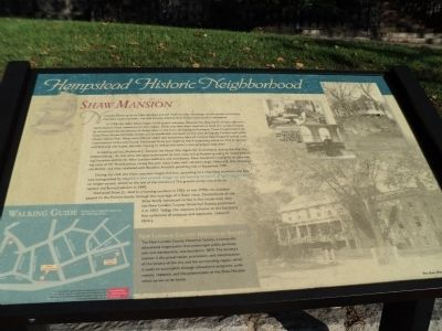 Shaw Mansion Marker image. Click for full size.