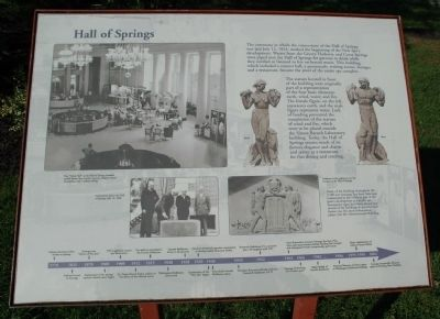 Hall of Springs Marker image. Click for full size.