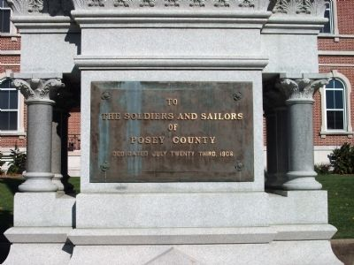 Posey County Soldiers and Sailors Memorial Marker image. Click for full size.